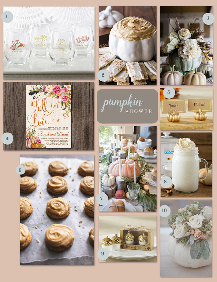 A Pumpkin Inspired Bridal Shower My Wedding Favors