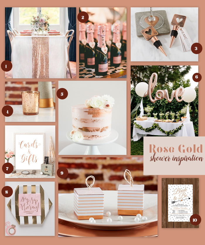MWF Rose Gold Wedding Shower Inspiration
