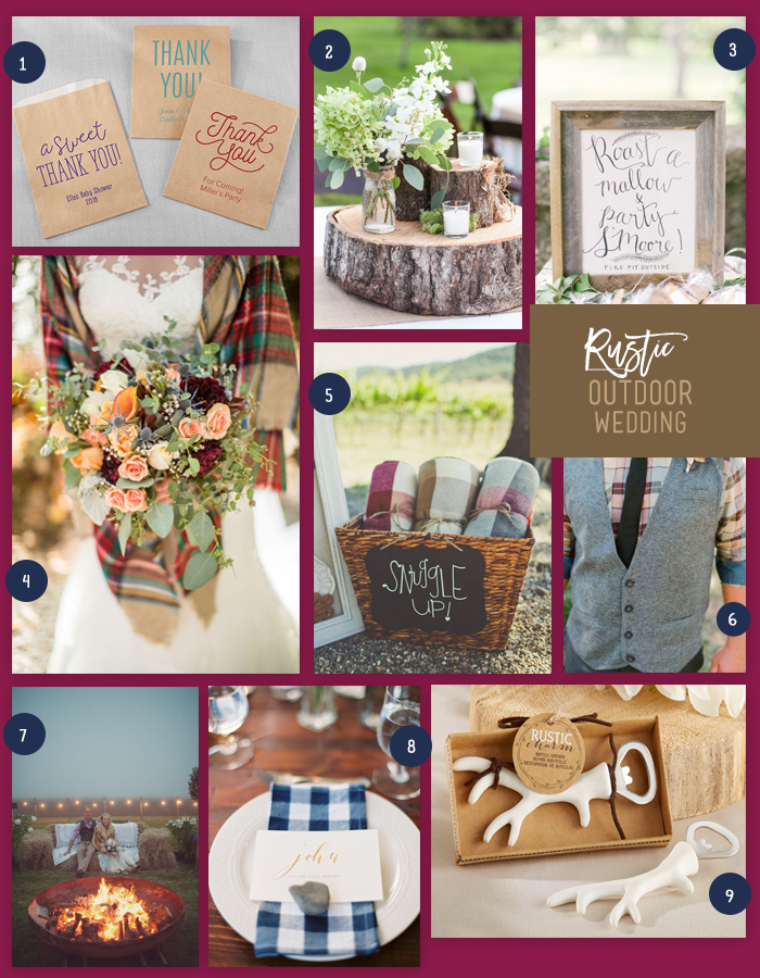 Rustic Outdoor Wedding | 9 Ideas for a Rustic Outdoor Wedding | My Wedding Favors
