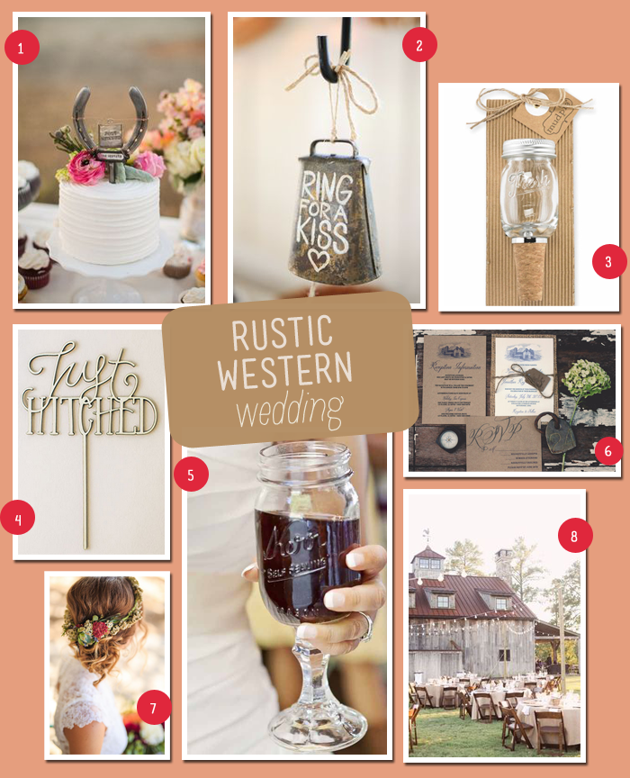 Rustic Western Wedding | MyWeddingFavors.com