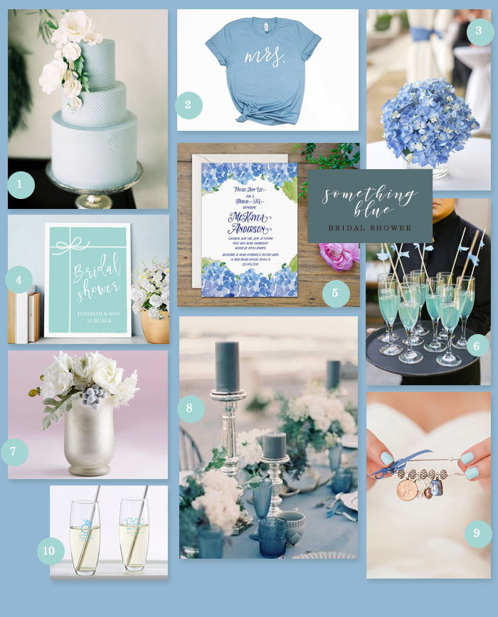MWF Something Blue Bridal Shower