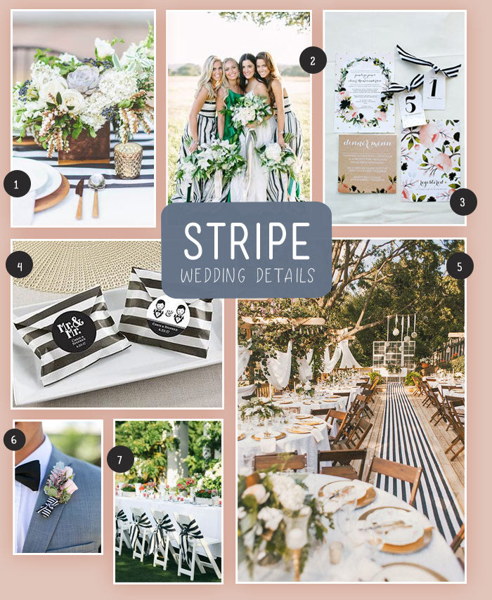 Black and White Striped Wedding Ideas | MyWeddingFavors.com