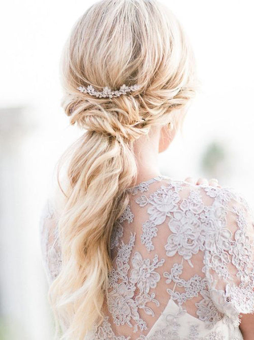 Wedding Hair Style- Low Pony | Wedding Hairstyle Trends for 2019 | My Wedding Favors