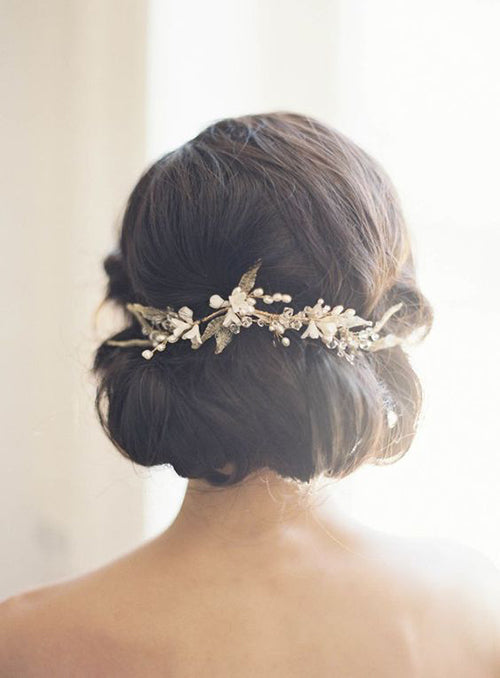 Wedding Hair Style- Low Bun | Wedding Hairstyle Trends for 2019 | My Wedding Favors