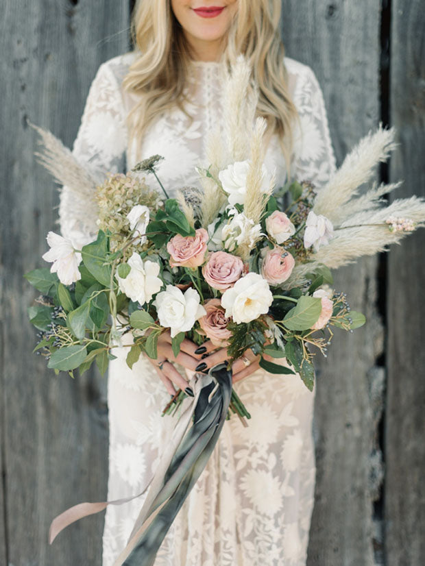 Pampas Wedding Bouquet