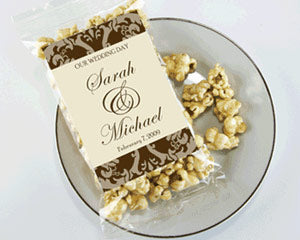 Personalized Caramel Popcorn Wedding Favors
