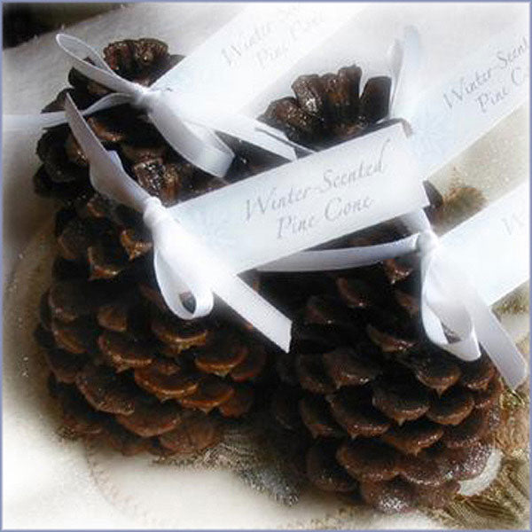 Winter Wedding: Scented Pine Cones