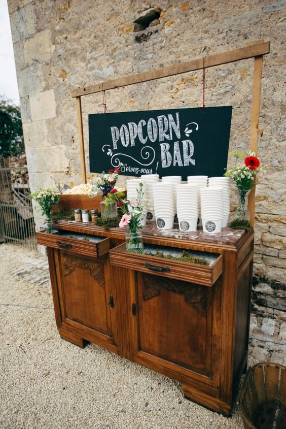 Popcorn Bar | 7 Trendy Wedding Appetizers | My Wedding Favors