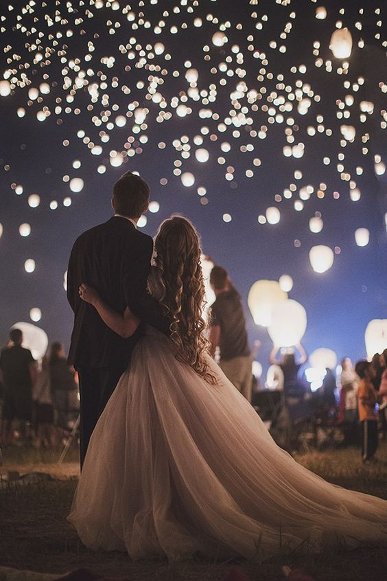 Wedding Send Off: Floating Lanterns