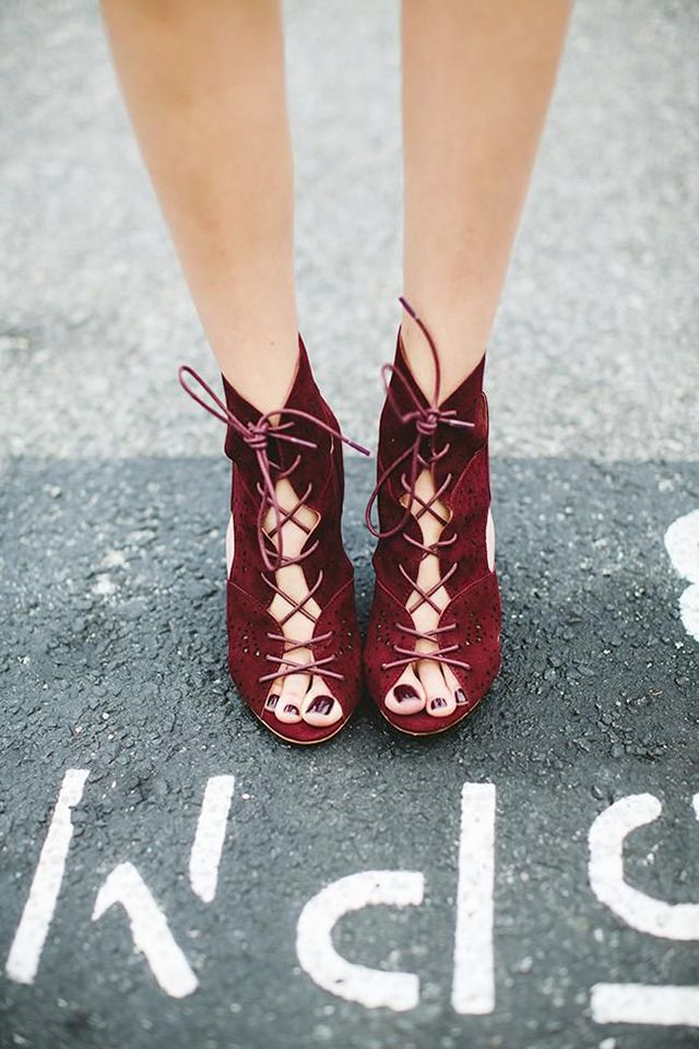 Marsala Wedding Shoes: Beautiful Shoes