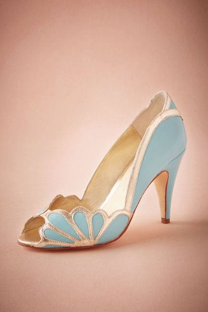 Rose Quartz and Serenity Wedding Shoes