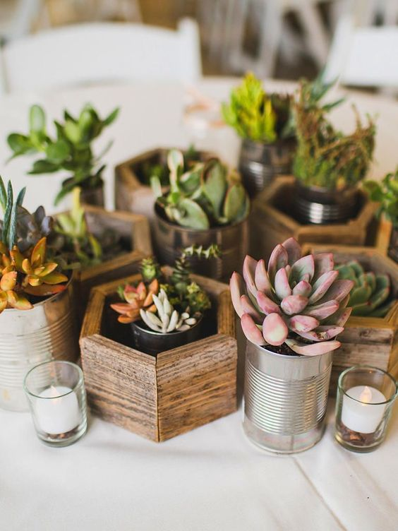 Greenery Wedding Inspiration: Succulents