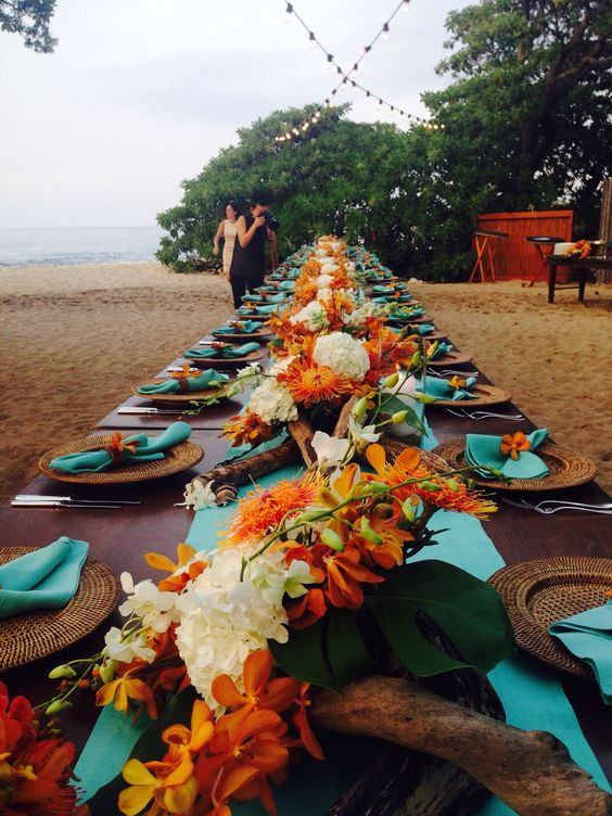 Tropical Chic Wedding: Teal