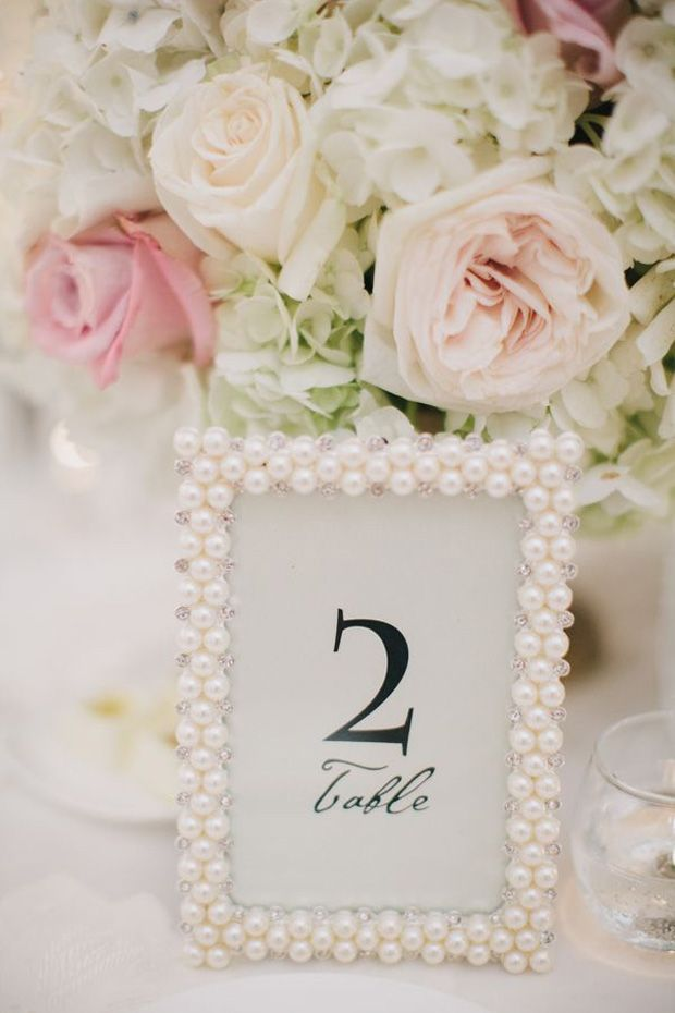 Pearl Wedding Decor: Pearl Picture Frame