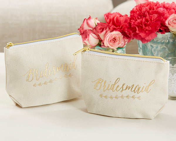 "Bridesmaid Canvas Makeup Bag | 8 Great Gifts for Your ""I Do"" Crew 