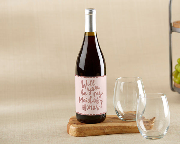 "Bridesmaid Proposal Wine Label | 8 Great Gifts for Your ""I Do"" Crew 