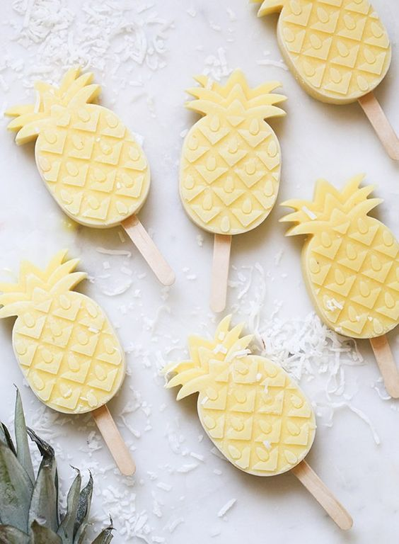 Pineapple Popsicles | How to Throw a Pineapple Themed Bachelorette Party | My Wedding Favors