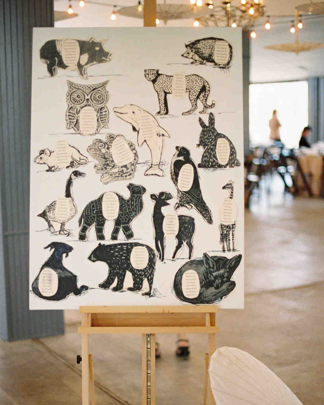 Animal Themed Seating Chart | 5 Creative Seating Arrangement Ideas | My Wedding Favors