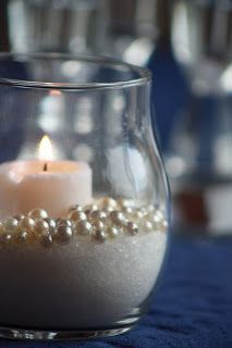 Pearl Wedding Decor: Pearl Candle Holders