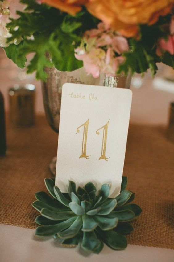 Greenery Wedding Inspiration: Table Numbers