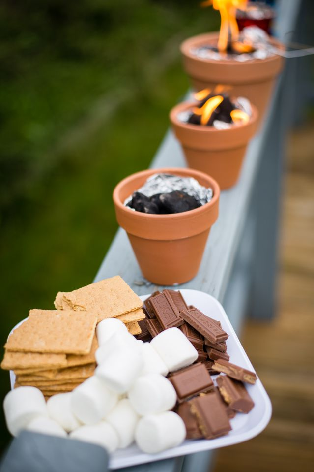 S'More Station | 7 Outdoor Bridal Shower Treats | My Wedding Favors