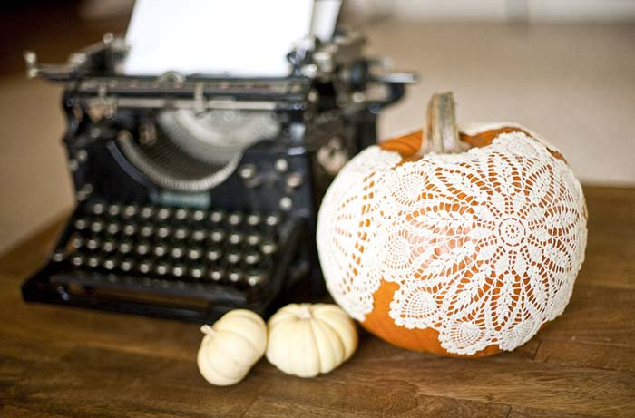 Doily Pumpkin | Planning The Perfect Pumpkin Themed Shower | My Wedding Favors