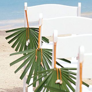 Pineapple and Palms Wedding: Palm Frond Aisle