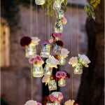 Garden Wedding Decorations: Tree Lights