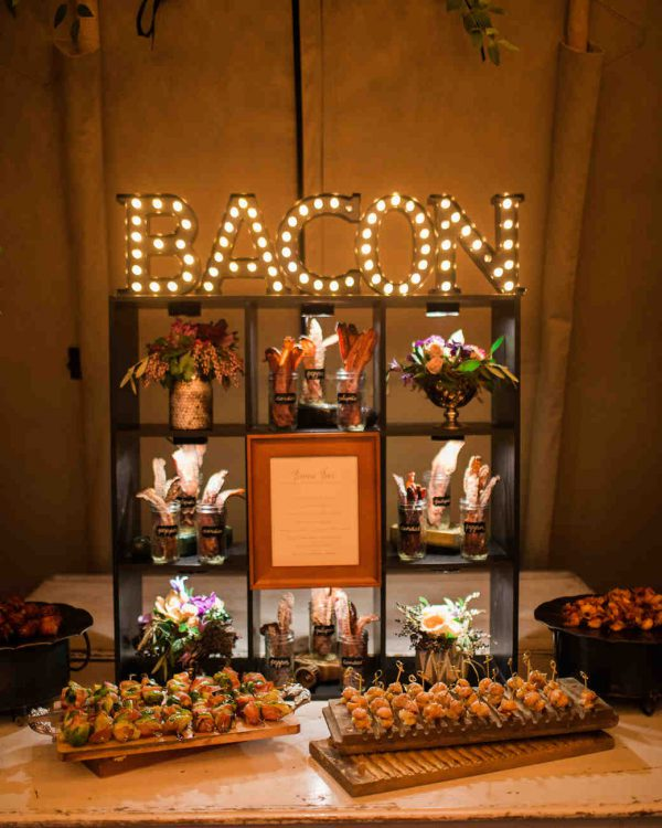 Bacon Wall | 7 Trendy Wedding Appetizers | My Wedding Favors