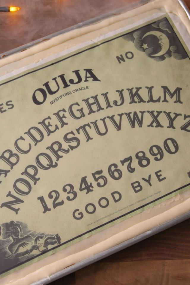 Ouija Cake | Spooky Food For a Halloween Party | My Wedding Favors