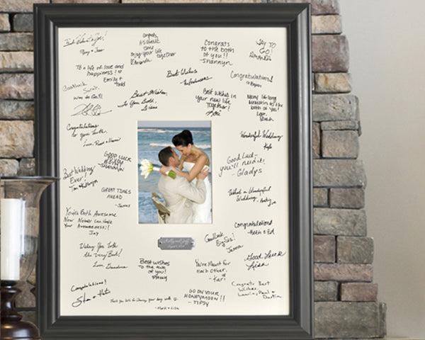 Wedding Signature Picture Frame | 6 Well Wishes Ideas for the Newlyweds