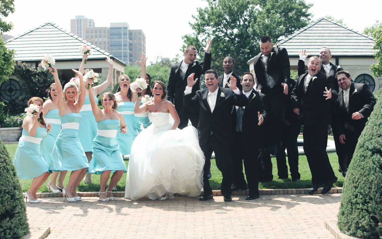 Bridal Party Jumping | Should You Have a Sibling in Your Bridal Party? | My Wedding Favors
