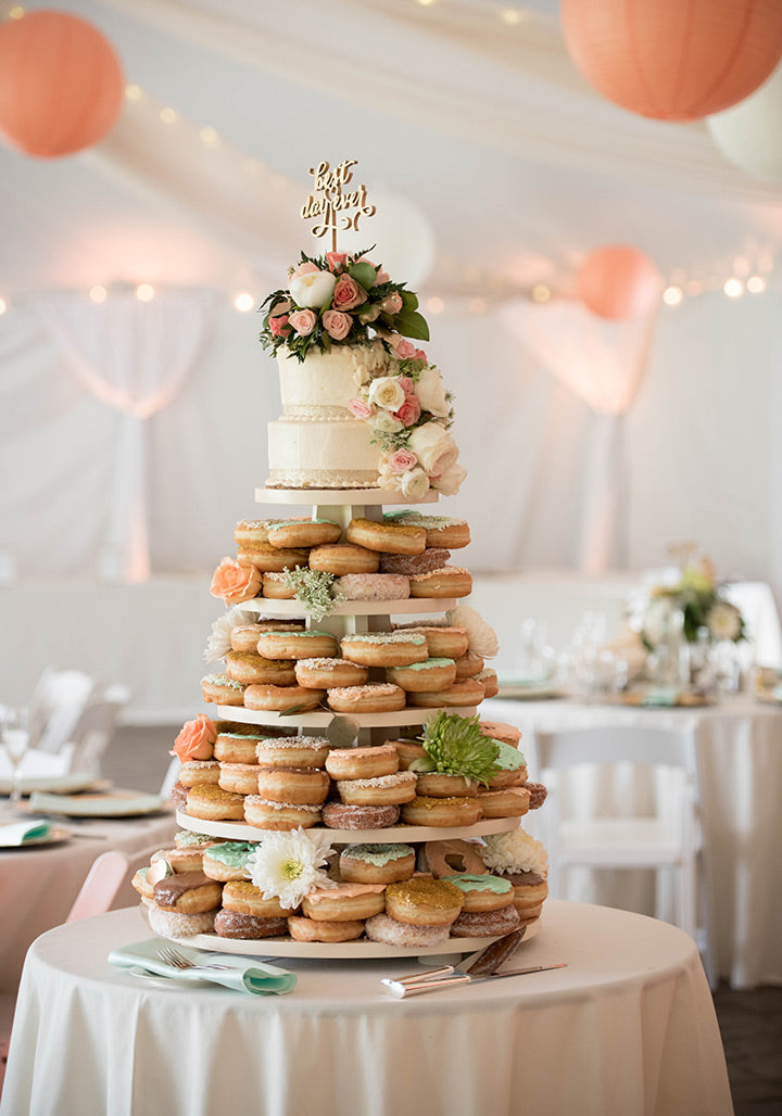 Cake and Doughnuts | Incorporating Donuts Into Your Wedding | My Wedding Favors
