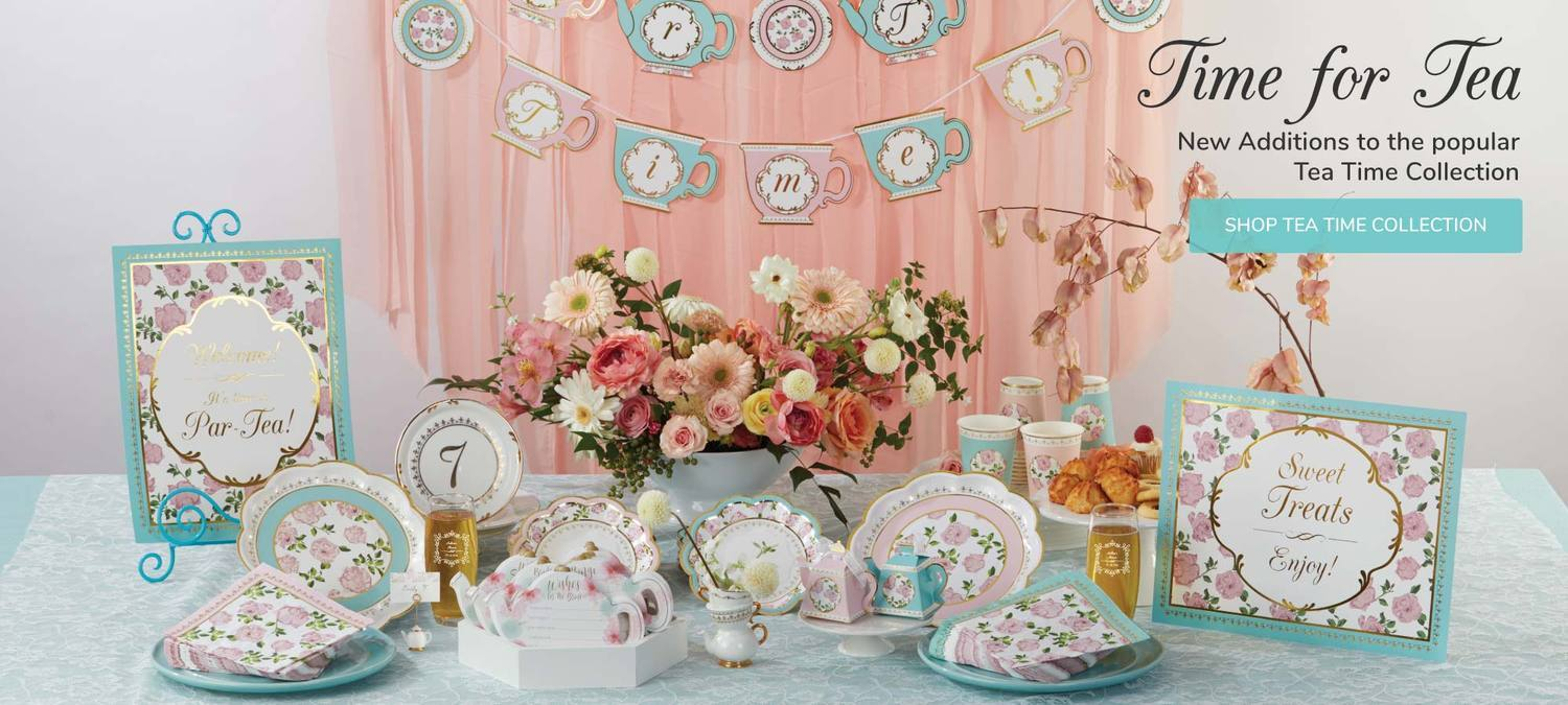 Time for Tea! Shop our Team Time Collection for all your essential party décor!