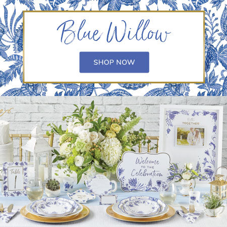 Blue Willow - Traditional vintage appeal for all occasions.