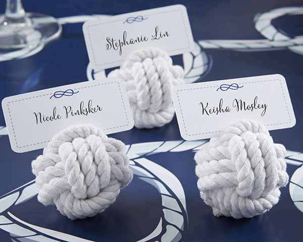 Rope Place Card Holders | 9 Charming Wedding Table Decor Ideas | My Wedding Favors