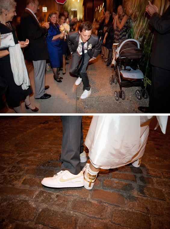 Nike Wedding Sneakers on Bride and Groom | Jenny Kim Photography