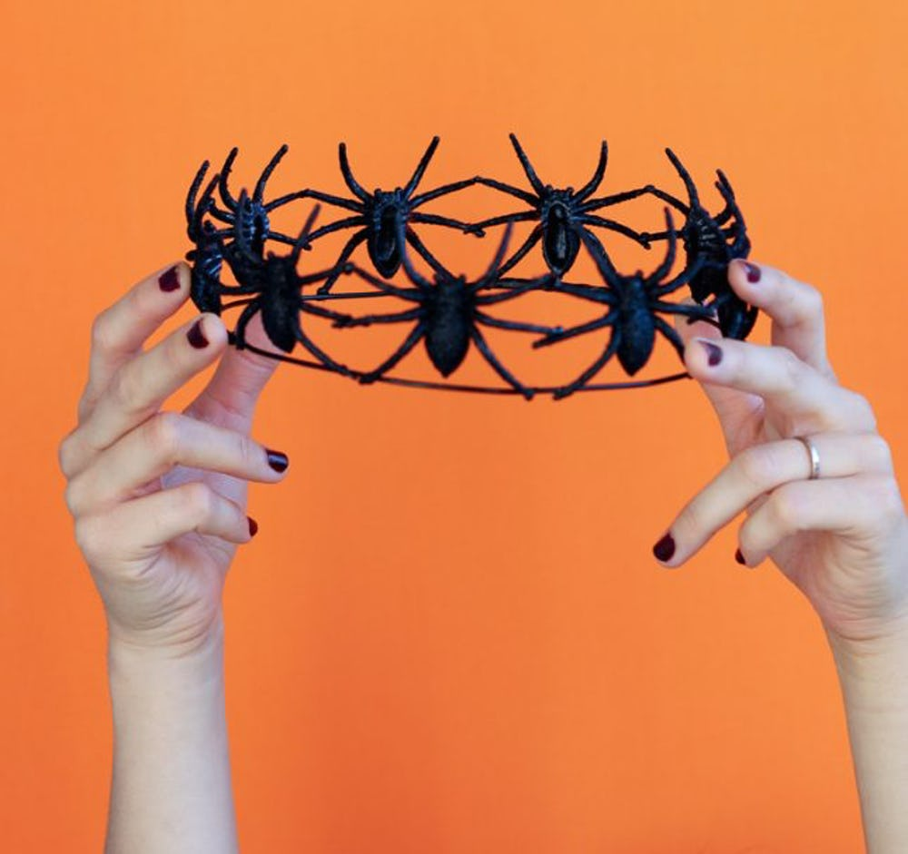 Halloween Bachelorette Party: Spider Crown