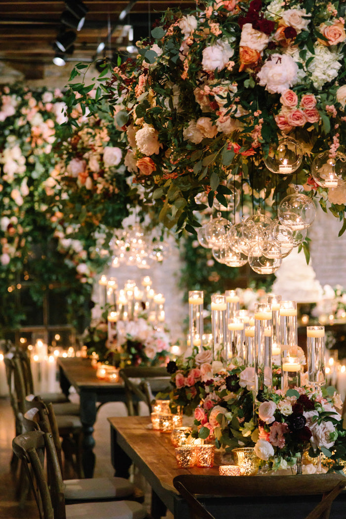 Ultra Floral Wedding: Hanging Flowers