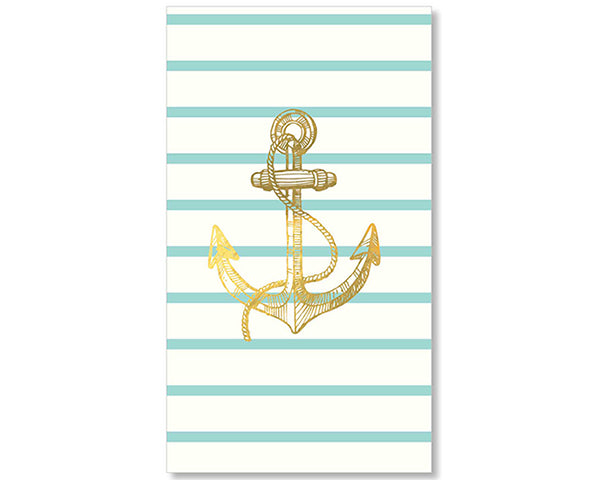 Anchor Napkins | How to Decorate for an Elegant Beach Wedding | My Wedding Favors