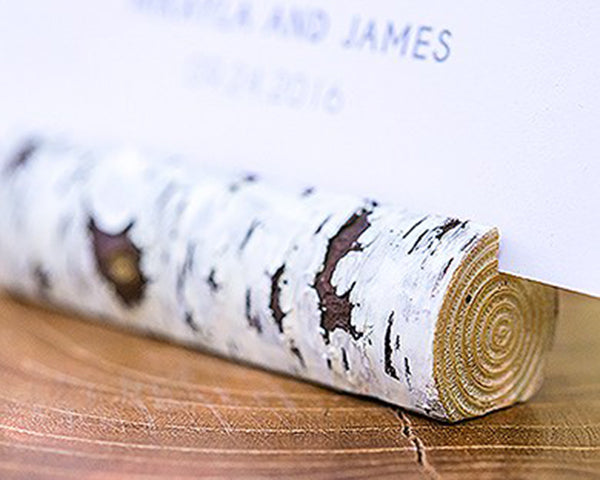 Birch Logs | 8 Unique Wedding Reception Place Card Holders | My Wedding Favors