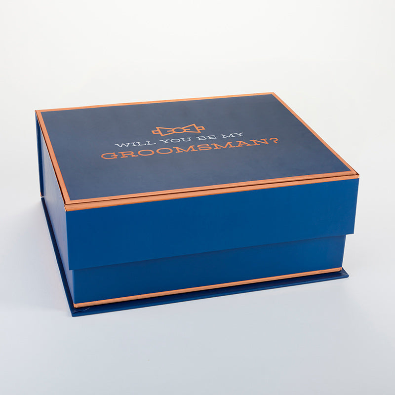 Navy & Copper Will You Be My Groomsman Kit Gift Box