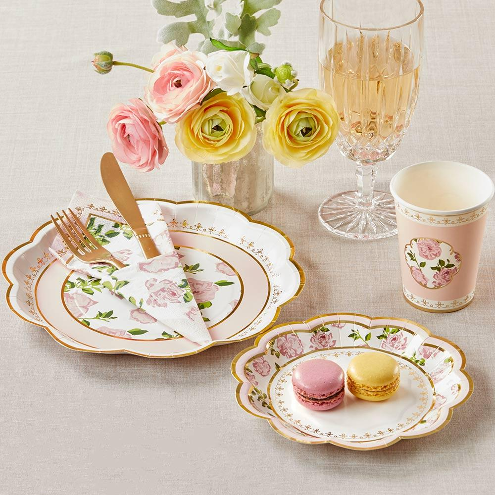 Tea Time Whimsy Party Tableware Set - Pink