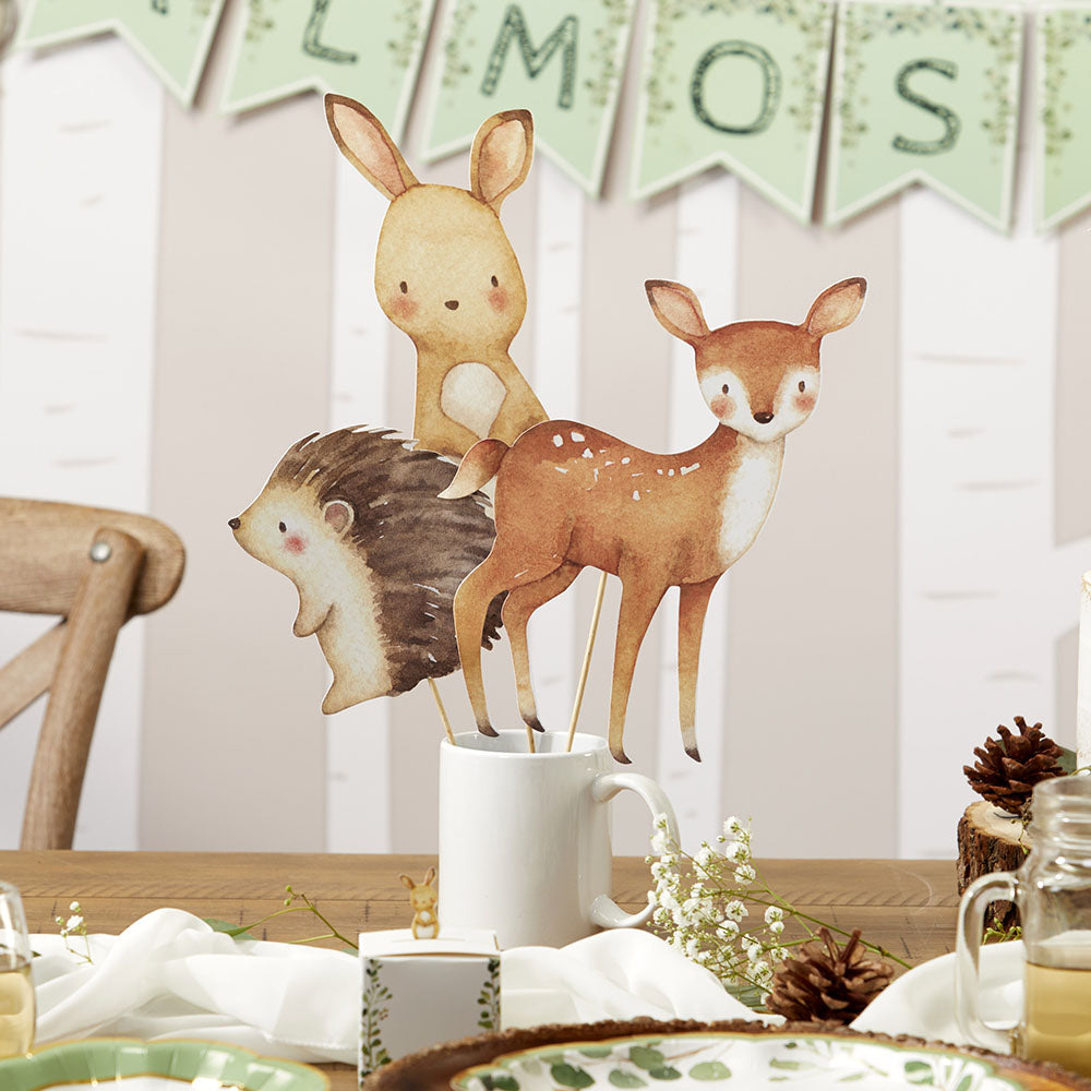Woodland Baby 33 Piece Party Décor Kit