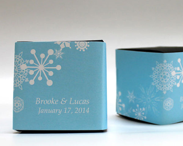 Winter Finery Cube Favor Box Wrap (Many Designs Available)