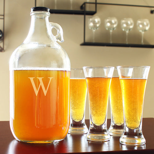 Personalized Craft Beer Growler & Tasters Set
