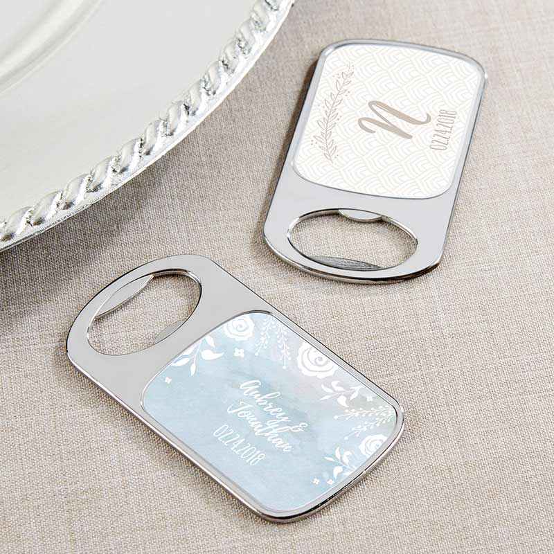 Personalized Ethereal Silver Bottle Opener