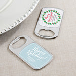 Personalized Holiday Silver Bottle Opener