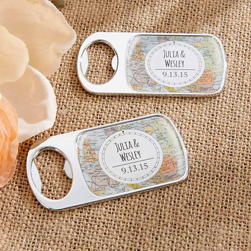 Personalized Travel & Adventure Silver Bottle Opener