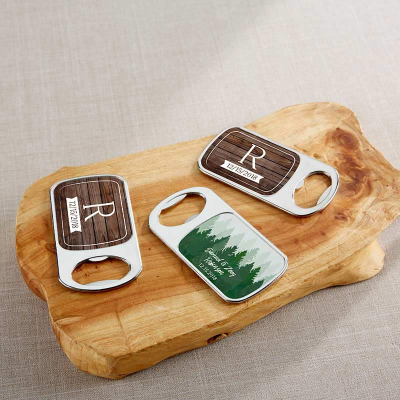 Personalized Winter Silver Bottle Opener